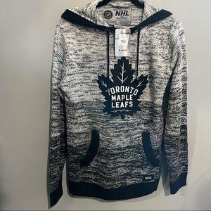 NWT Toronto maple leaf knit hoodie size m